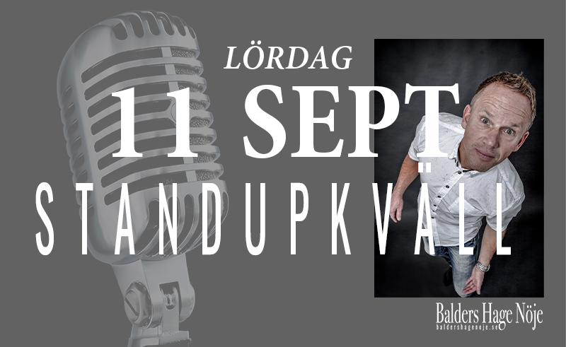 Standupkväll 11 September
